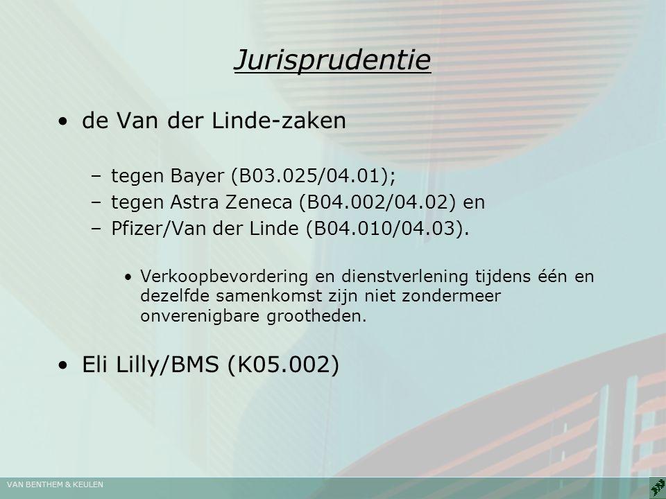 Jurisprudentie de Van der Linde-zaken Eli Lilly/BMS (K05.002)
