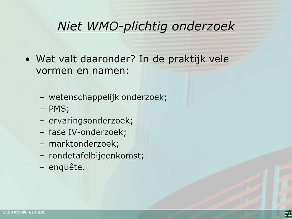 Niet WMO-plichtig onderzoek
