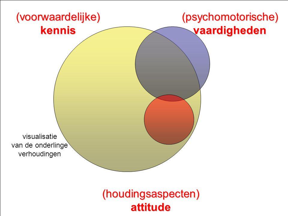 (voorwaardelijke) kennis (psychomotorische) vaardigheden
