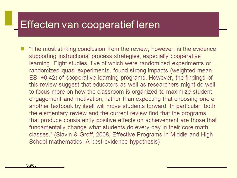 Effecten van cooperatief leren