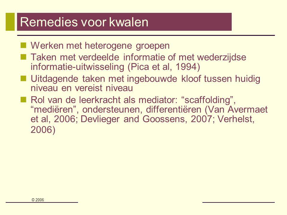 Remedies voor kwalen Werken met heterogene groepen