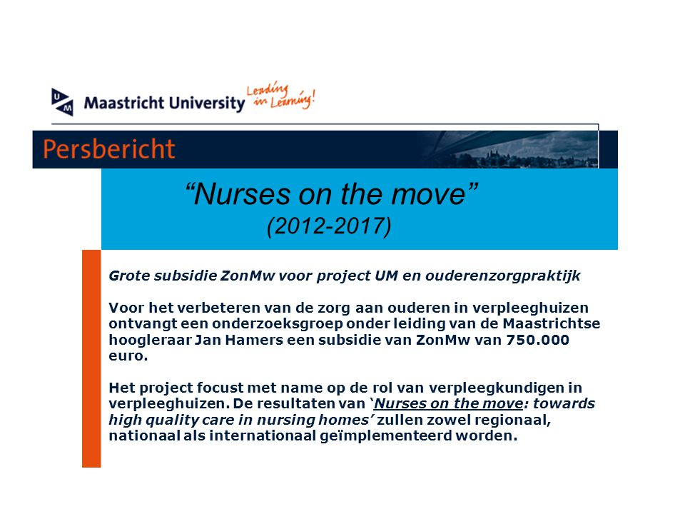 Nurses on the move (2012-2017)