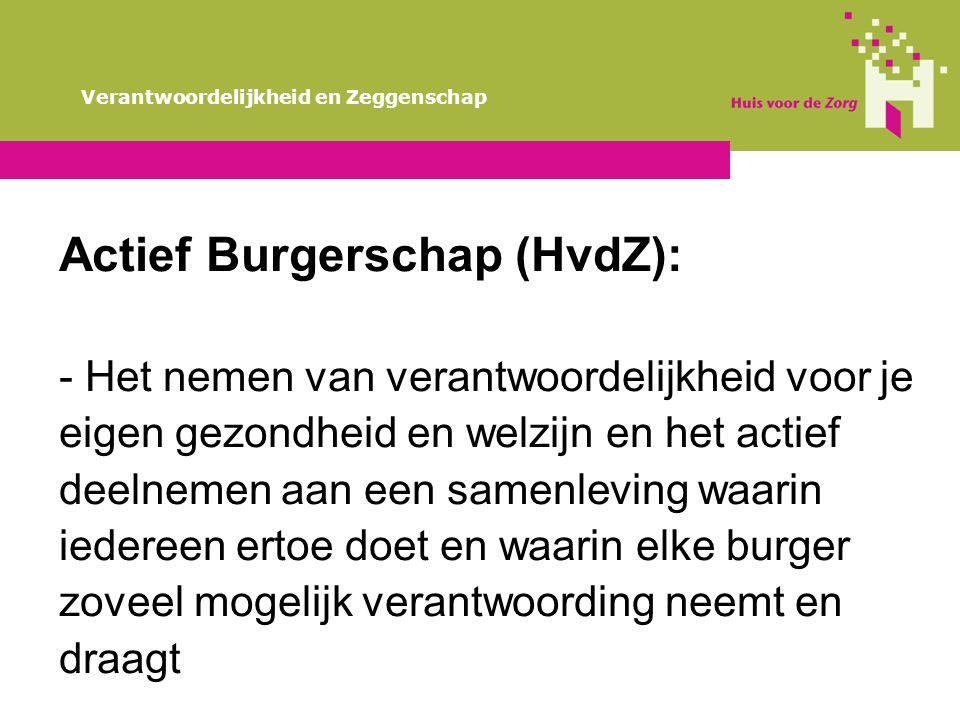 Actief Burgerschap (HvdZ):