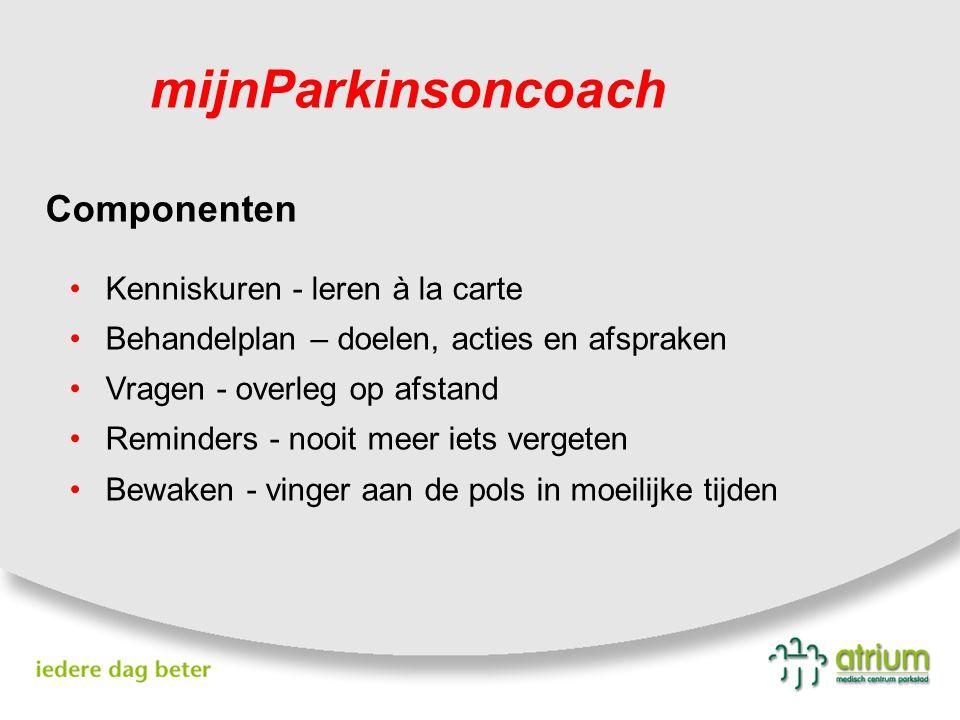 mijnParkinsoncoach Componenten Kenniskuren - leren à la carte