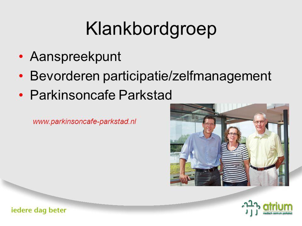 Klankbordgroep Aanspreekpunt Bevorderen participatie/zelfmanagement