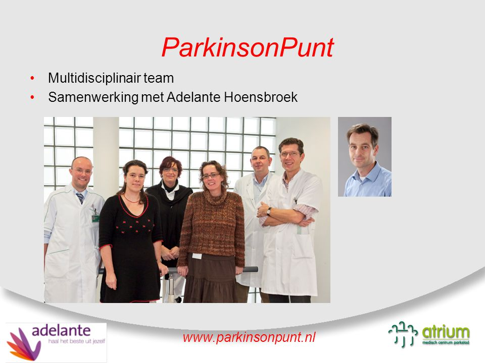 ParkinsonPunt Multidisciplinair team