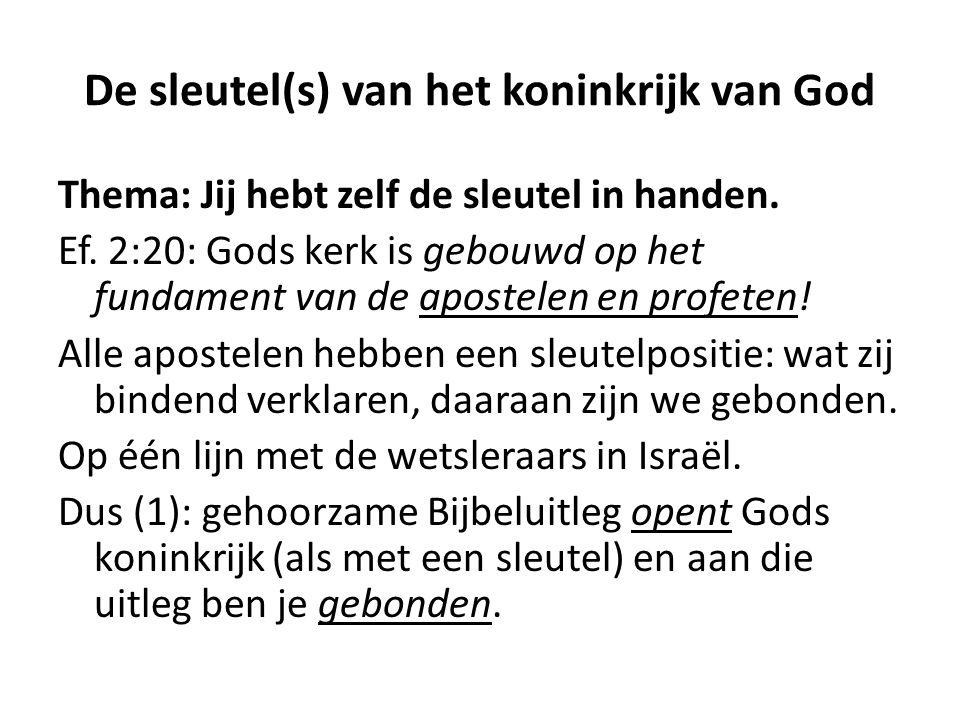 De sleutel(s) van het koninkrijk van God