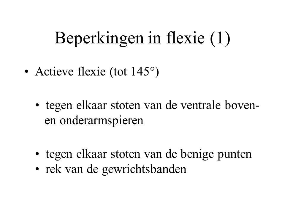 Beperkingen in flexie (1)