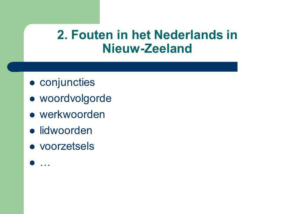 2. Fouten in het Nederlands in Nieuw-Zeeland