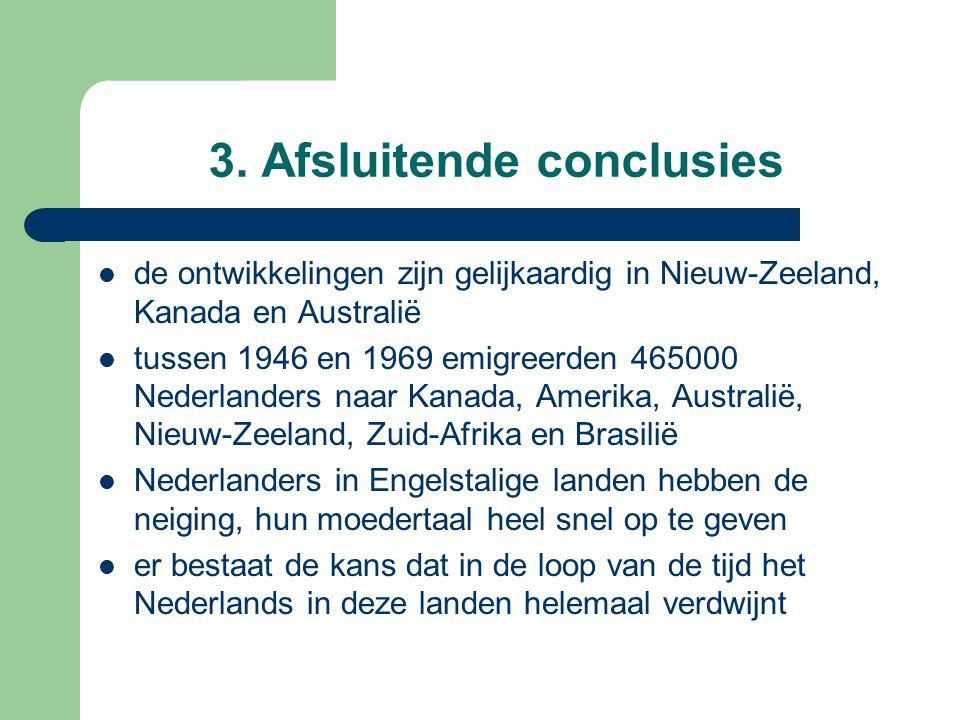 3. Afsluitende conclusies