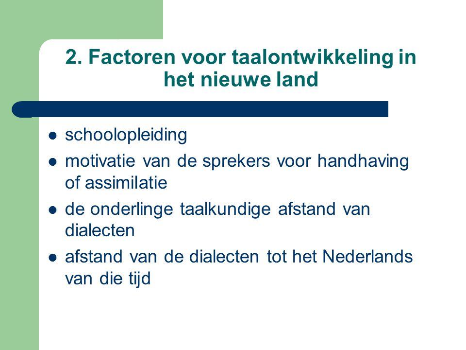 2. Factoren voor taalontwikkeling in het nieuwe land