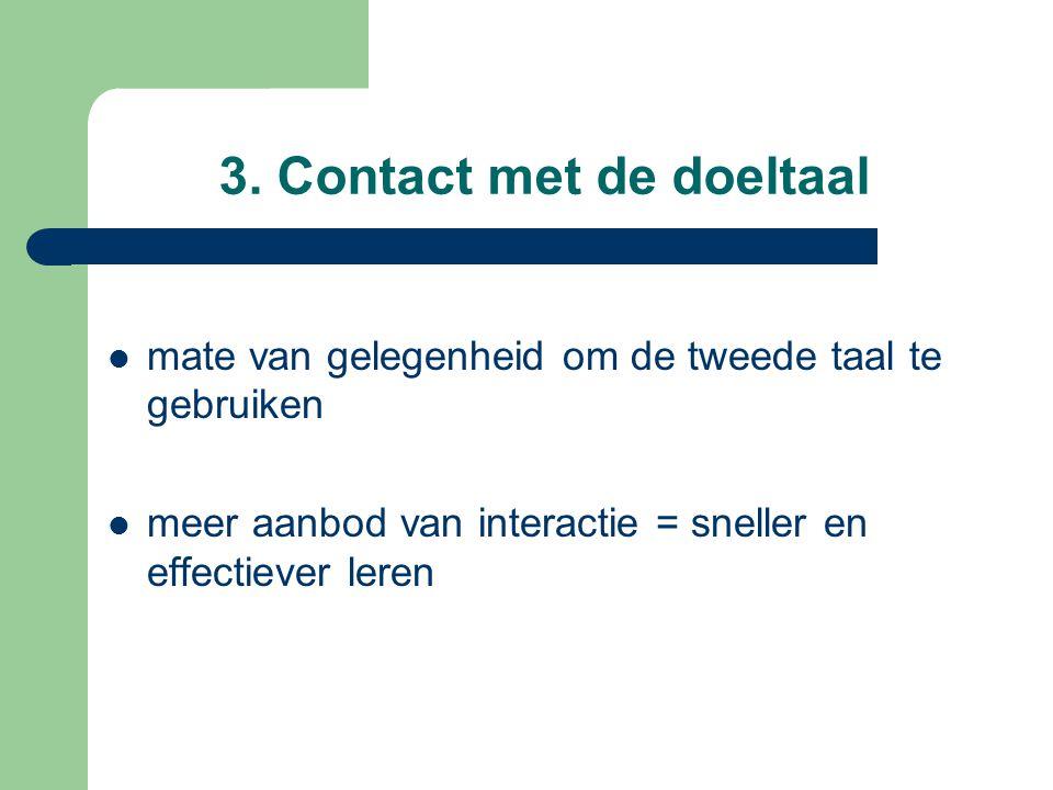 3. Contact met de doeltaal
