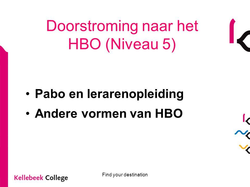 Doorstroming naar het HBO (Niveau 5)