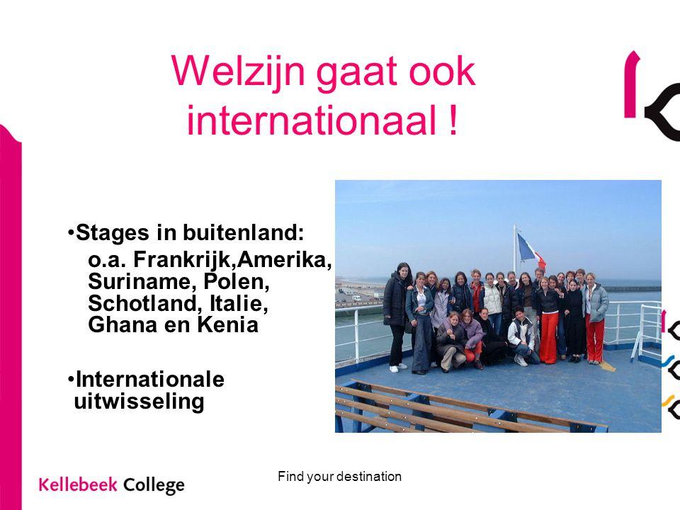 Welzijn gaat ook internationaal !