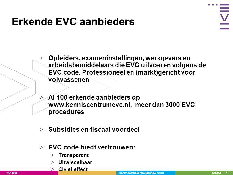 Erkende EVC aanbieders