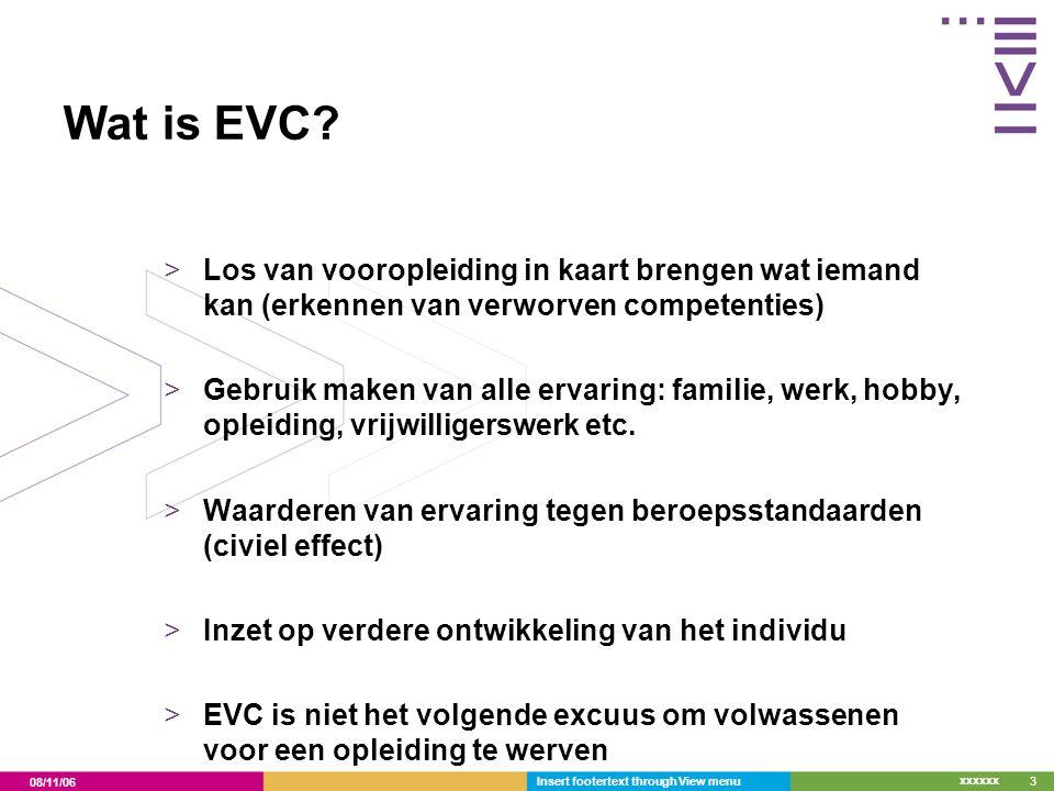 Wat is EVC Los van vooropleiding in kaart brengen wat iemand kan (erkennen van verworven competenties)