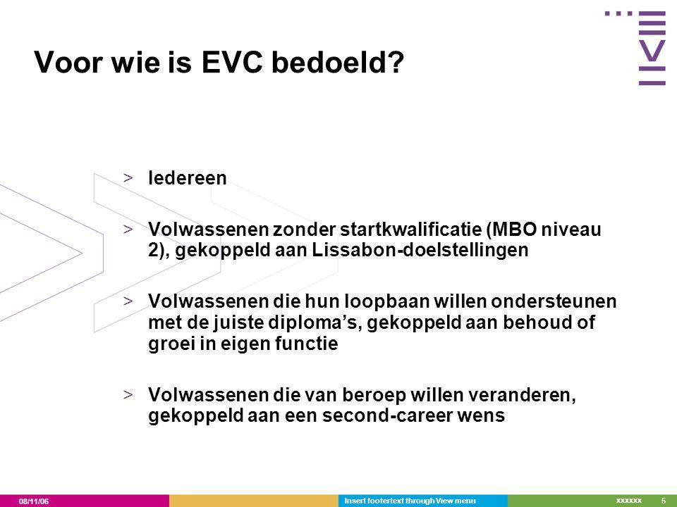 Voor wie is EVC bedoeld Iedereen