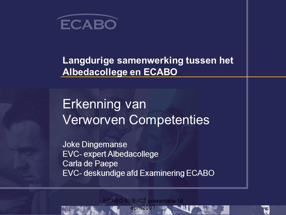 Langdurige samenwerking tussen het Albedacollege en ECABO