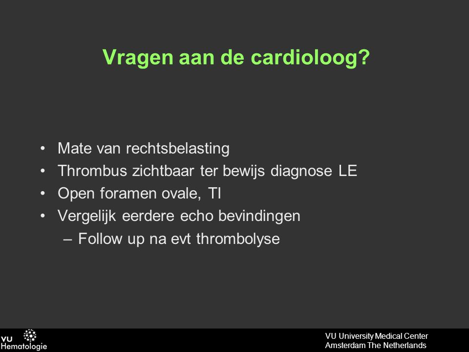 Vragen aan de cardioloog