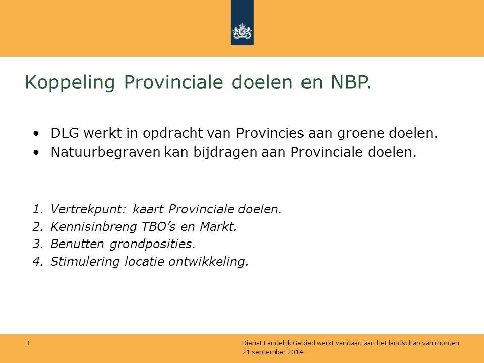 Koppeling Provinciale doelen en NBP.