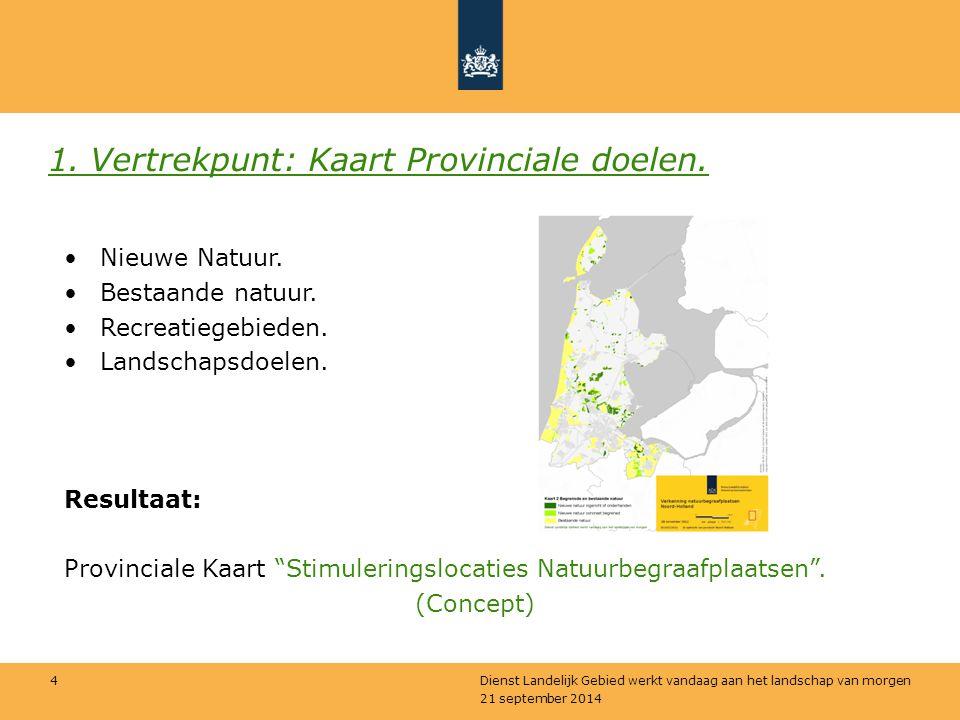 1. Vertrekpunt: Kaart Provinciale doelen.