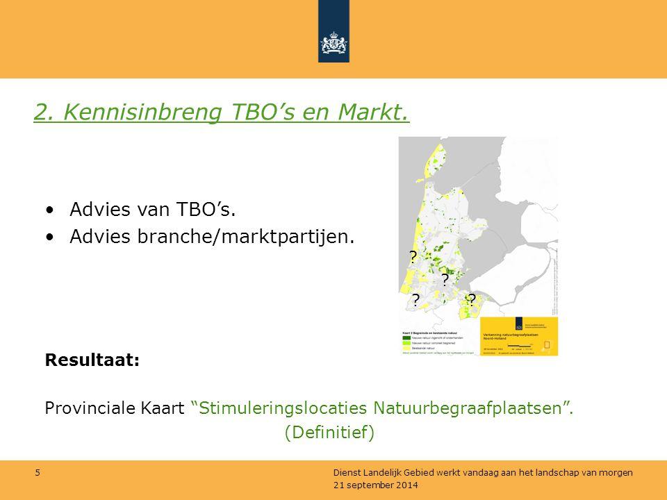 2. Kennisinbreng TBO's en Markt.