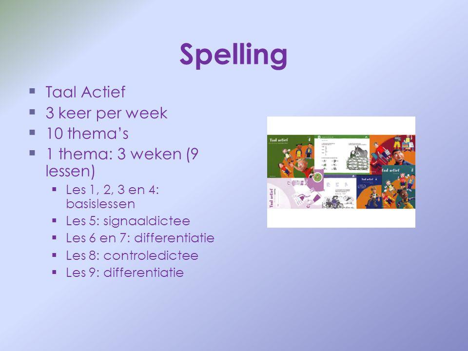 Spelling Taal Actief 3 keer per week 10 thema's