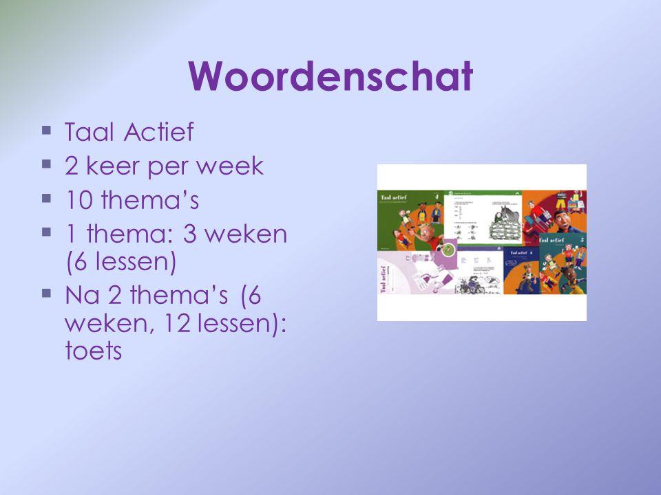 Woordenschat Taal Actief 2 keer per week 10 thema's