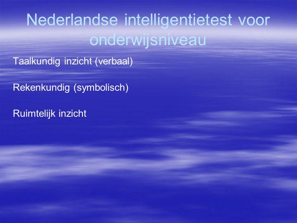 Nederlandse intelligentietest voor onderwijsniveau