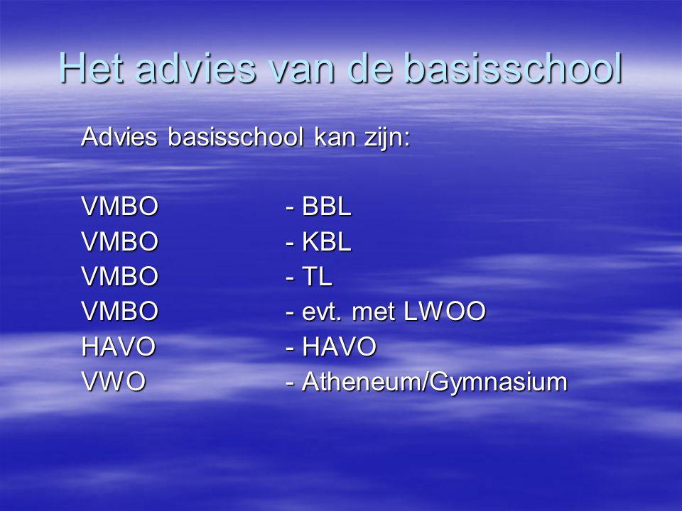 Het advies van de basisschool