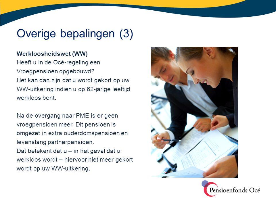 Overige bepalingen (3) Werkloosheidswet (WW)