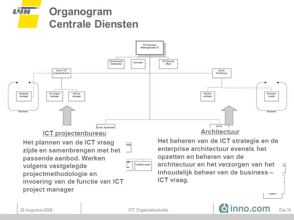 Organogram Centrale Diensten