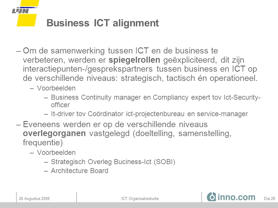 Business ICT alignment