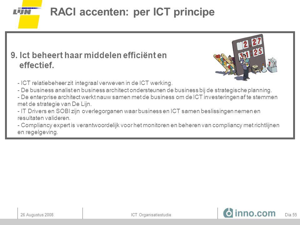 RACI accenten: per ICT principe