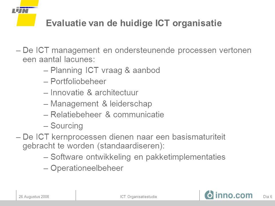 Evaluatie van de huidige ICT organisatie