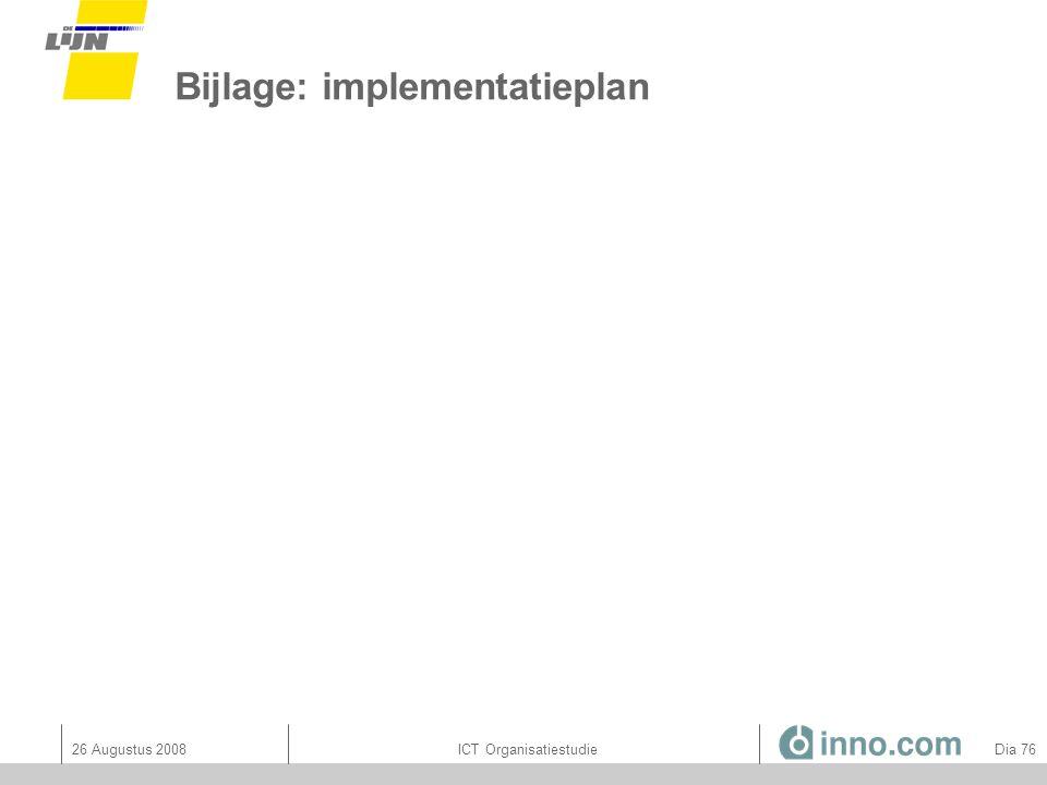 Bijlage: implementatieplan
