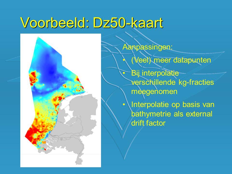 Voorbeeld: Dz50-kaart Aanpassingen: (Veel) meer datapunten