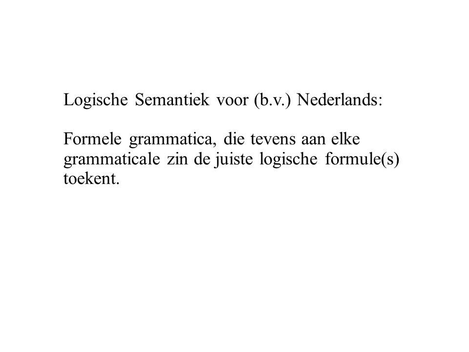 Logische Semantiek voor (b. v