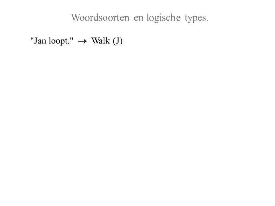 Woordsoorten en logische types.