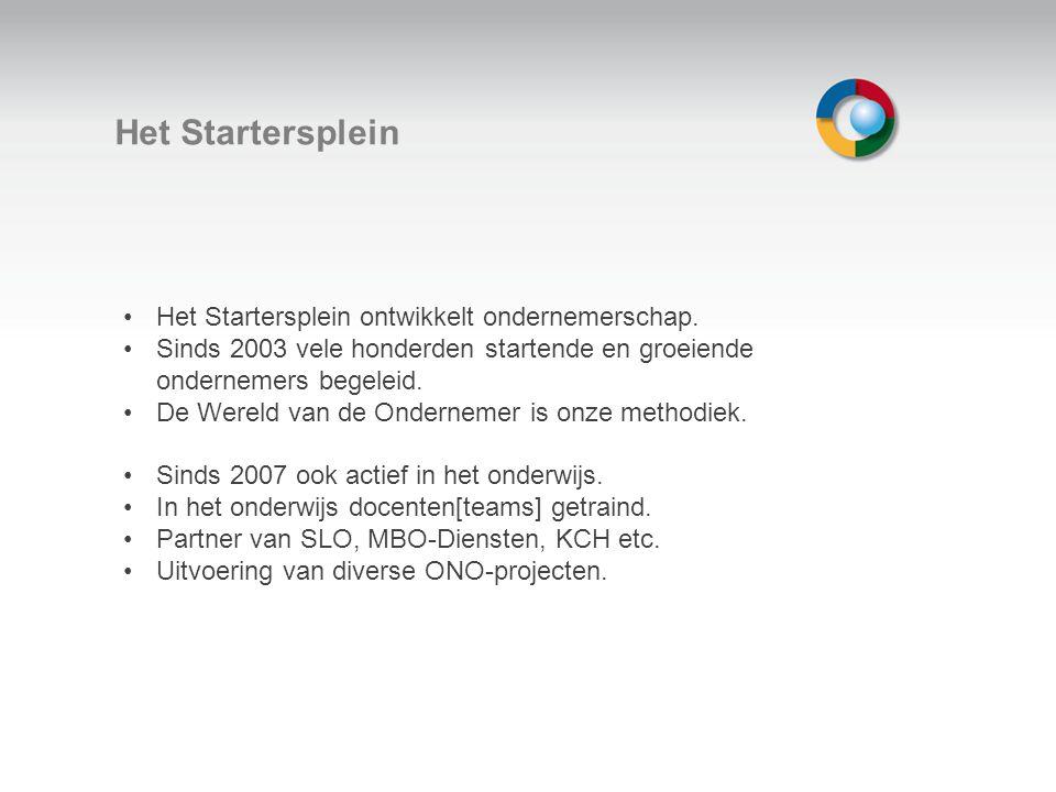 Welkom Het Startersplein Het Startersplein ontwikkelt ondernemerschap.