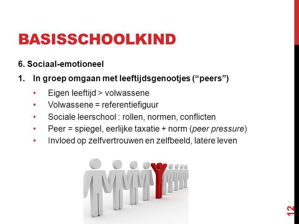 basisschoolkind 6. Sociaal-emotioneel