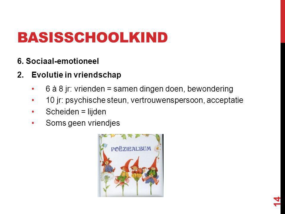 basisschoolkind 6. Sociaal-emotioneel Evolutie in vriendschap
