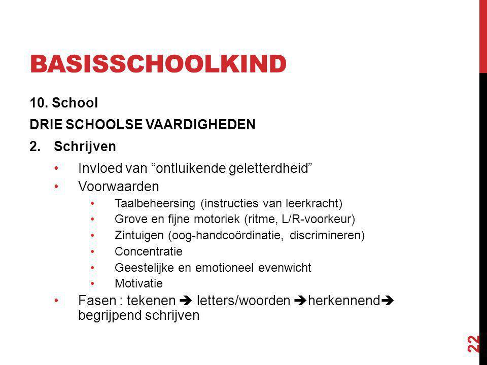 basisschoolkind 10. School DRIE SCHOOLSE VAARDIGHEDEN Schrijven