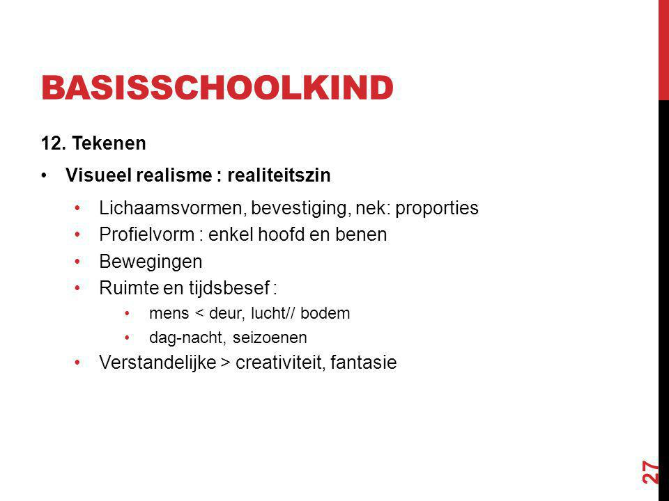 Basisschoolkind 12. Tekenen Visueel realisme : realiteitszin