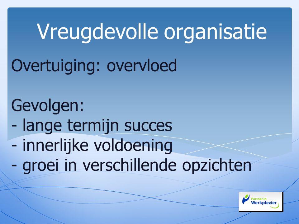 Vreugdevolle organisatie