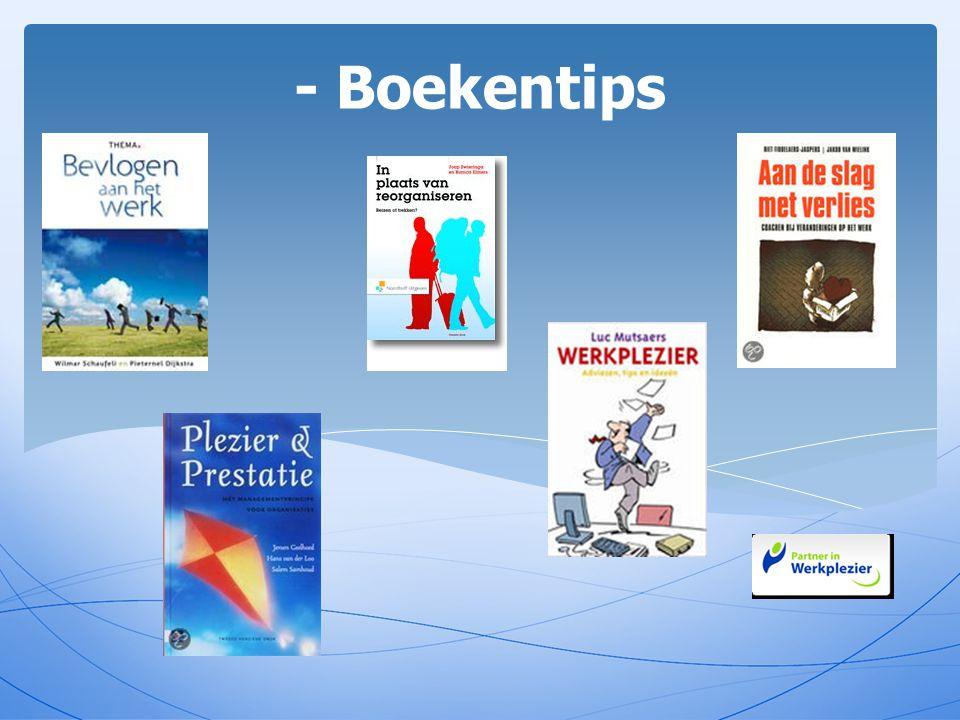 - Boekentips Bevlogen aan het werk: