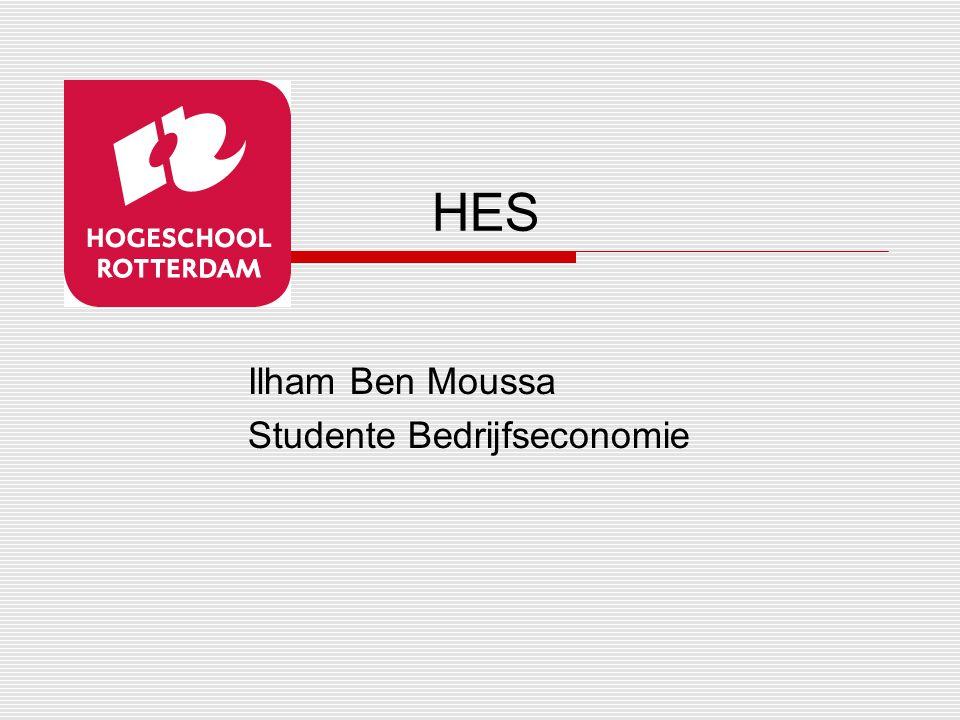 HES Ilham Ben Moussa Studente Bedrijfseconomie