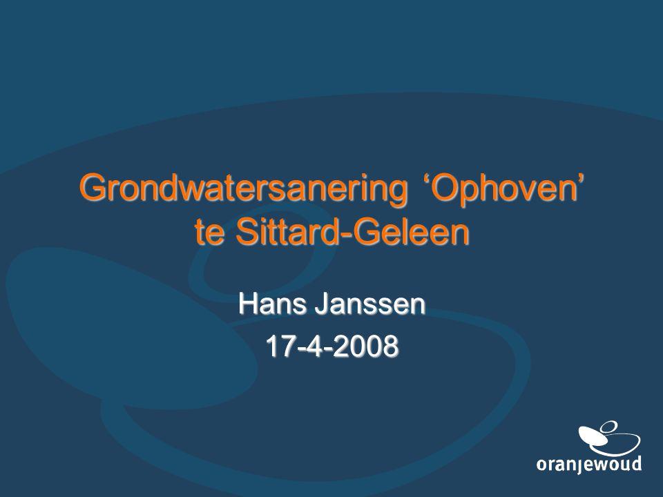 Grondwatersanering 'Ophoven' te Sittard-Geleen