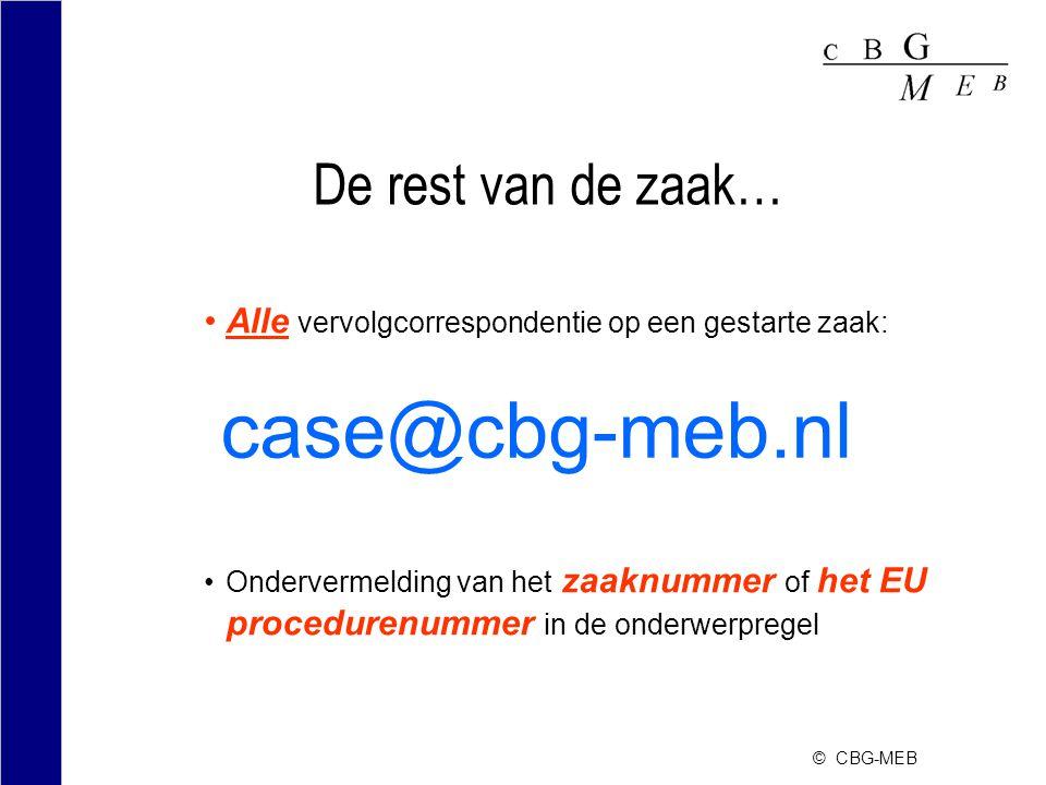 case@cbg-meb.nl De rest van de zaak…