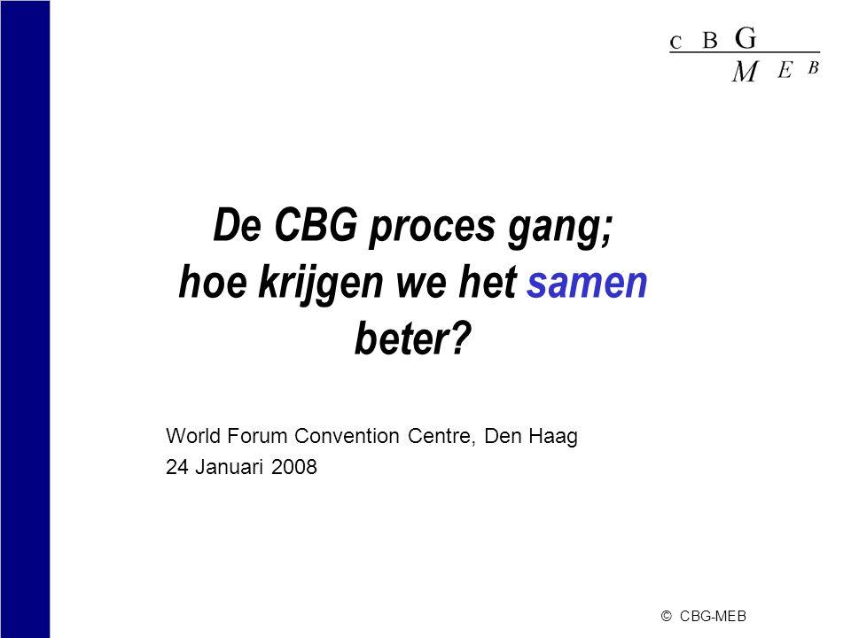 De CBG proces gang; hoe krijgen we het samen beter